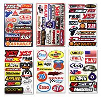60++ Teilig Motocross Motorrad Sponsoren Helm Aufkleber Rennsport Tuning Vinyl X