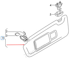 Audi A7 4G Left Side Sun Visor 4G0857551DHF6 NEW GENUINE