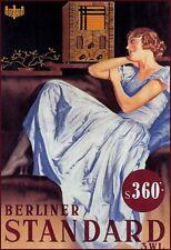 "13""×19"" Decorative Art Poster: VINTAGE RADIO Advertisement. Pop Music. Jazz"