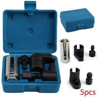 5pc Oxygen Sensor Slotted Socket Thread Chasers Tool Set Car Garage Repair Kit