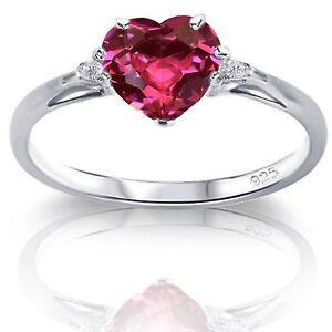 Elegant Heart CZ Sterling Silver Opal Birthstone Ring