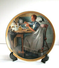 1 Norman Rockwell #9 Working In The Kitchen Plate-Rediscovered Women Collection