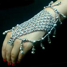Bollywood Bauchtanz Belly Dance Sklavenarmband Handschmuck Armband Ring Silber