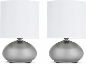 Catalina Lighting 18581-000 Transitional 2 Pack Matching Small Touch Table Lamp