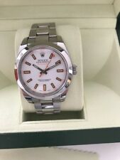 Great 2008 Rolex Watch Milgauss White Dial with Box/Papers/Tags owned from new