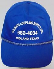 Vintage 1990s ROGER COUPLING SUPPLY Gas Petroleum Advertising SNAPBACK HAT CAP