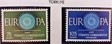2 X Timbre Stamp Turquie Türkiye Turkey 1960 YT  1567 1568 EUROPA CEPT Neufs