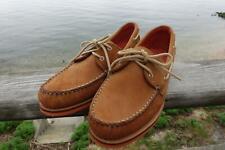 Allen Edmonds NEW South Shore 10 D Boat Shoes Orange Soles