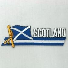 SCOTLAND ST ANDREWS CROSS SIDEKICK WORD COUNTRY FLAG IRON ON PATCH CREST BADGE .