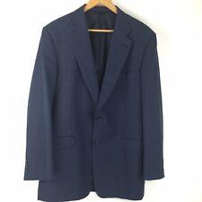 Burberry London Blazer Suit Jacket Men 44L Dark Navy Blue Kensington Cotton Wool