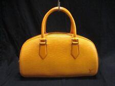 Authentic LOUIS VUITTON Epi Jasmin M52089 Jaune Handbag TH0928