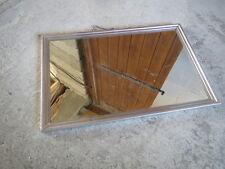 Ancien miroir type salle de bain vintage entourage alu french antique mirror