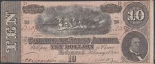Confederate CSA T68 1864 Ten Dollar Note