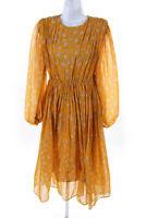 Alcoolique Womens Silk Floral Print Domenica Dress Orange Size IT 38 11188394
