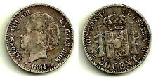 ALFONSO XIII. 50 CÉNTIMOS DE 1894(*9-4). MADRID PG-V. PLATA SILVER SILBER