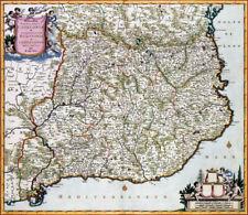 Reproduction carte ancienne - Catalogne (Cataluña) 1688