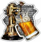 "Beer Tap Pour Drink Bar Restaurant Alcohol Car Bumper Vinyl Sticker Decal 4""X5"""