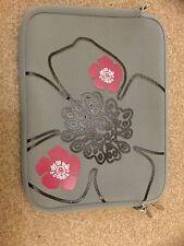 """Digittrade Notebook/MacBook Sleeve Grey Floral 15"""""""