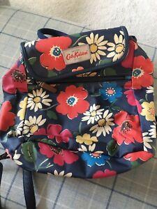 cath kidston blue floral backpack
