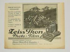 Pubblicità 1928 ZEISS IKON PHOTO FOTO FILM DRESDEN advertising werbung publicitè