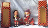 2 Vintage Scottish original dolls Monteiths of Glasgow with boxes vintage