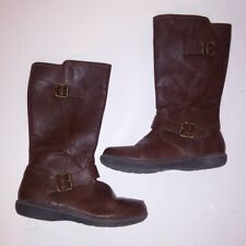 Born Kids Girls Boots Size 4 Brown Buckles