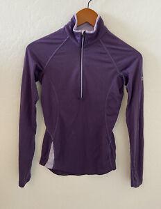 Icebreaker GT New Zeal and Merino Wool 150 zip pullover Purple Sz XS