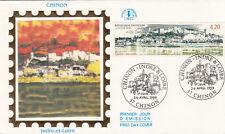 Enveloppe 1er jour CHINON 1993 INDRE ET  LOIRE timbrée