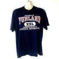 Men's Vintage T-Shirt Jerzees Funland Rehoboth Beach Delaware Size XL Blue