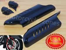 Black Lower Fork Leg Covers Deflectors For Harley Touring Road Glide 2000-2013