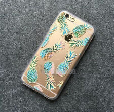 Pineapple Cactus Floral Transparent Silicone Case Cover Skin for iPhone 5 6 Plus