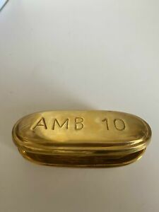 Jonathan Adler Brass Ambien Pill Box (scratches all over and discoloration insid