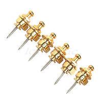 6* Electric Acoustic Guitar Bass Strap locks Golden schaller - style Strap Lock