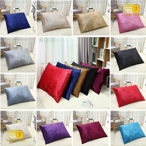 CRUSHED VELVET Floor Cushion Covers ONLY OR With Inner Soft DOG BED
