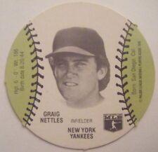 GRAIG NETTLES RARE 1977 BURGER CHEF NY YANKEES baseball card MSA disc 1978 WSC
