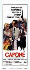 AL CAPONE original 1975 14x36 insert movie poster BEN GAZZARA/SUSAN BLAKELY