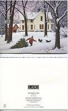 CHRISTMAS FARM HOUSE COUNTRY TREE COONHOUNDS 1 CHICKEN VESUVIO WINE RECIPE CARD