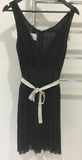 Malene Birger Evening Cocktail Dress 100% Silk Black Size 8
