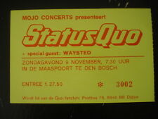 TICKET CONCERT COLLECTION 9/11/86  STATUS QUO * IN THE ARMY NOW TOUR ROCK MUSIC