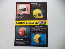 advertising Pubblicità 1976 CASCO BOERI SPORT INDY/ELITE/BOSS/NEW IMOLA