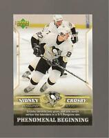 Sidney Crosby Rookie Upper deck 2006 Phenomenal Beginings Card #7