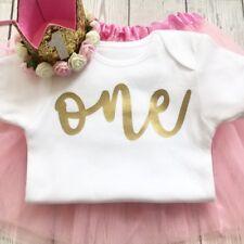 Primer cumpleaños 1st Bebé Chaleco Niñas Conjunto, uno, Pastel Smash (Tutu no inc)
