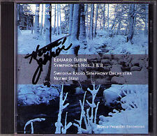 Neeme JÄRVI Signiert Eduard TUBIN Symphony No.3 & 8 Jarvi CD BIS 1987 Sinfonien