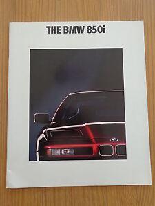 BMW 850i - PROSPEKT (1990) -englisch-