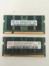 2 x 1Gb DDR2- 5300 Laptop Memory Samsung M470T2953EZ3-CE6 0735 Hynix 2Rx8 PC2