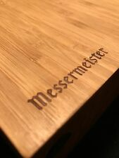 Messermeister Bamboo Magnet Block - Holds 10 Knives, UNIQUE WEDGE SHAPE, New