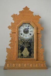 Antique W M L Gilbert Clock Co Geranium #3 Winstead Connecticut Parts Only