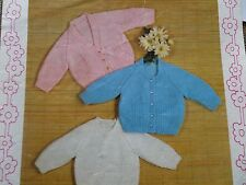 "Knitting Pattern Children Baby Jumper & 2 Styles Of Cardigan DK 19-23"" Vintage"