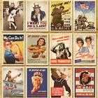 32Pcs Vintage Retro Posters Postcards 14cm x 10cm European American Photo Poster