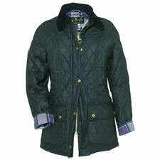 L452 WOMENS BARBOUR BEADNELL QUILTED BLACK WAX JACKET, UK 10
